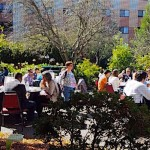 Great weather with fine outdoor dining at lunchtime