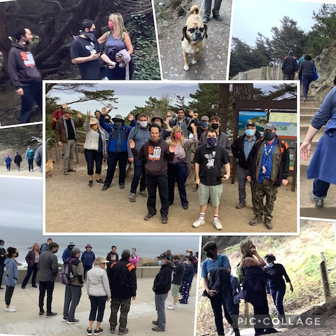 Collage of the hike at Land's End.